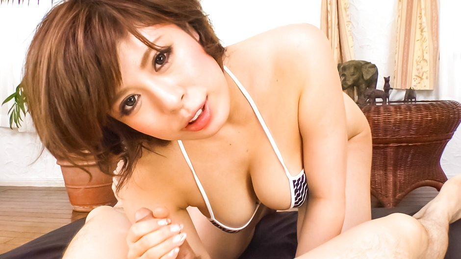 Ririsu Ayaka gives a japanese blowjob and tit fucking