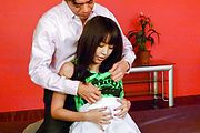Slim Japan milf, Marika, hard fucked and made to swallow Photo 1