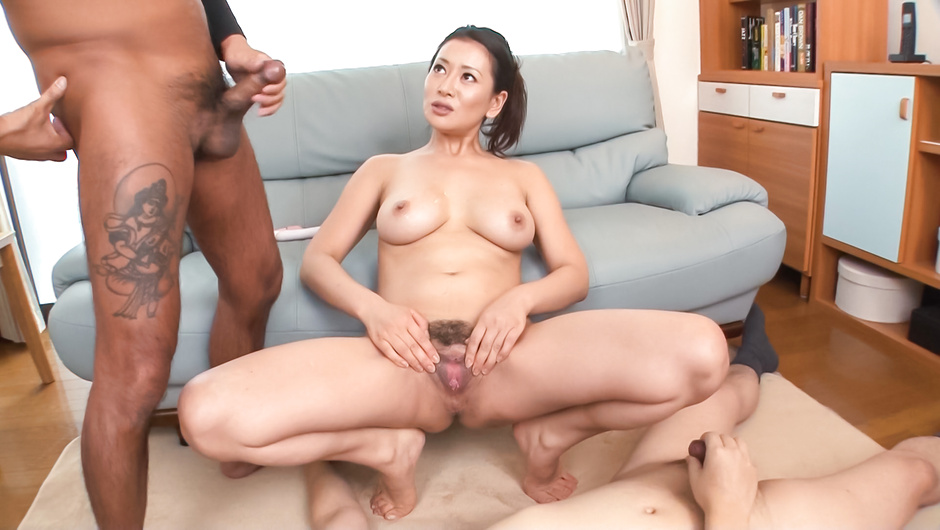 Busty Asian milf amazes with her warm lips