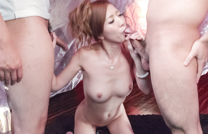 Sexy babe with superb Asian tits, made to swallow big time  asian boobs, hot asian women