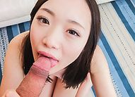 Mao Sena made to suck cock and swallow cum