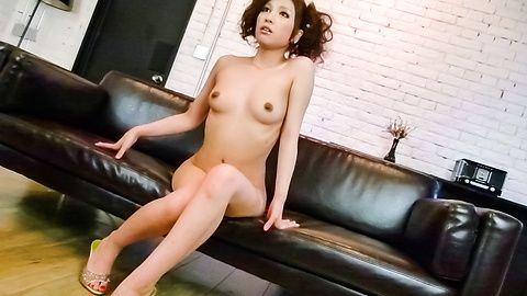 Oily Tsubasa Aihara enjoys a japanese pussy vibrator