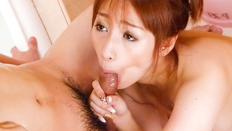 Tiara Ayase gives a japan blowjob...