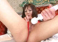 Skinny and horny pervert spreading and toying her eager muff