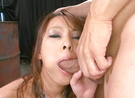 Asuka Asian nymphet rubs her clitoris while is fucked in mouth