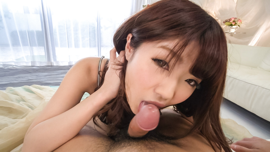 Amateur provides Asian blowjob in superb POV style