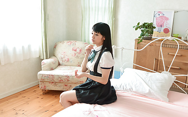 Asian schoolgirl tries two dicks in kinky manners