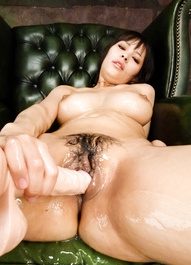 Kyouko Maki fucks nooky and touched oiled big assets with dildo