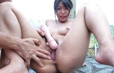 Eririka Katagiri playing naughty in sexy outdoor