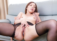 Asian 69 Facial - Moe Yoshikawa Asian washes her juicy hooters and hairy love box