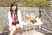 Asian schoolgirl presents herself masturbating  Photo 2