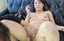 Japanese milfs enjoying naughty oral pleasures