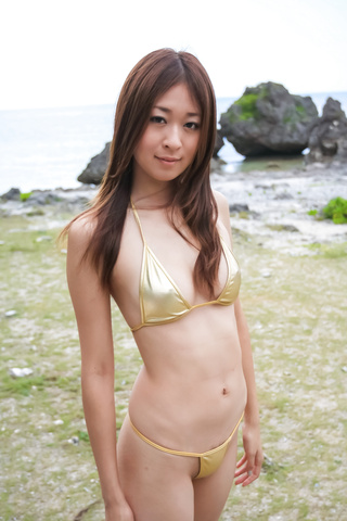 Japanese blowjob in outdoor with young Risa Misaki  Photo 1