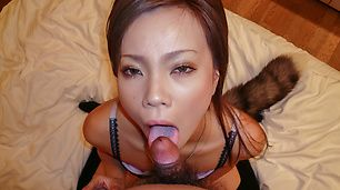 Strong POV scenes with slim Japanese babe, Sakiko