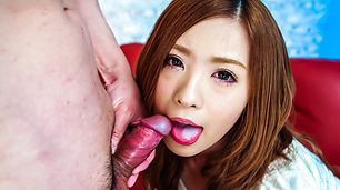 Cock sucking Mika Nakagawa enjoys full Japan blowjob
