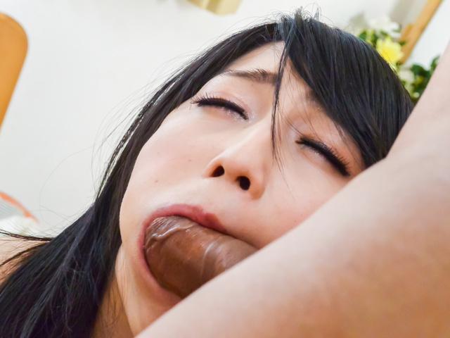 Japan blowjob during hard fucking withReo Saionji Photo 9