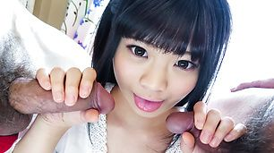 Top Japanese POV scenes along cock sucking Moka Minaduki