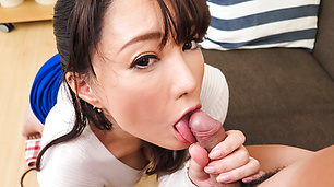 Kotone Kuroki mind blowing Asian blowjob POV scenes