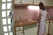 Hot housewife Hikaru Wakabayashi pounded hard Photo 1