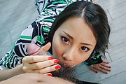 Ren Azumi has japanese blowjobs for every guy here Photo 3