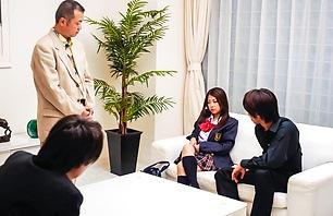 Schoolgirl Satomi Suzuki Gets Off While Sucking Dick