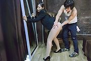 Japan milf tries cock until getting fully jizzed on pussy  Photo 4