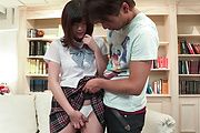 Asian schoolgirl throats it before fucking it  Photo 1