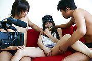 Karen Natsuhara gets a creampie in an asian gangbang Photo 10