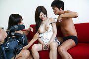 Karen Natsuhara gets a creampie in an asian gangbang Photo 12