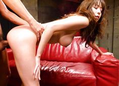 Akari Minamino's asian girl blowjob leads to a stiff banging