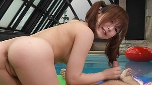Hot Miku Airi shows nooky and sucks shlong