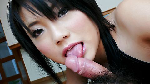 Haruna Katou hot milf sucks dick so well!