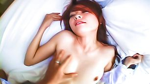 Asian schoolgirl, Ran, having a great fuck on cam
