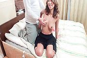 Miku Natsukawa's hot asian tits bounce as she rides him Photo 5