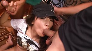 Hinata Tachibana's a hot asian girls sucking cocks