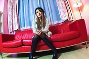 Teen in Asian stockings banged by two men  Photo 1