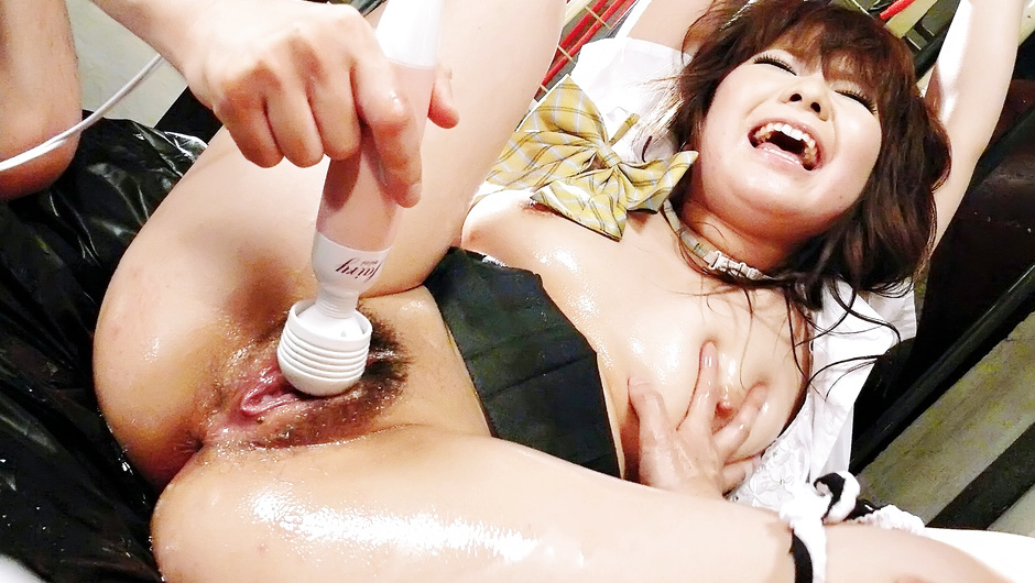 Meina - Two horny Japanese men attack  with oil and cocks