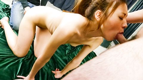 Mio Kuraki in a japan blowjob and...