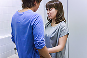 Riho Mikami kneels before cock for Asian blowjob  Photo 11