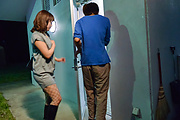Riho Mikami kneels before cock for Asian blowjob  Photo 1