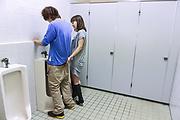 Riho Mikami kneels before cock for Asian blowjob  Photo 8