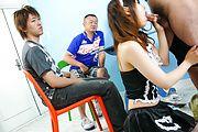 Maid teen Miku Airi on her knees for a japanese blowjob Photo 5