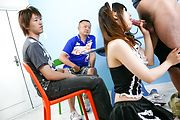 Maid teen Miku Airi on her knees for a japanese blowjob Photo 6