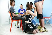 Maid teen Miku Airi on her knees for a japanese blowjob Photo 9