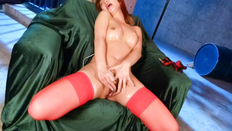 Amazing  Sana Anzyu in japanese stockings blowing cock