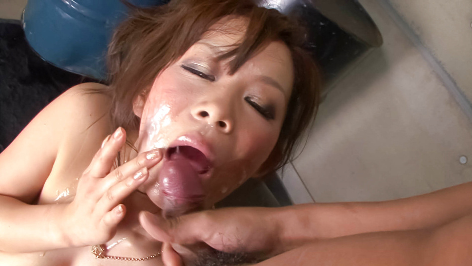 Ren Mizumori - Kinky little  is bound and gagged as her big tits are fondled and teased by a horny grou