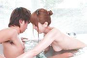 Soapy XXX experience along superbYui Hatano Photo 8