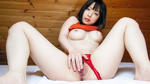 Hot solo with a busty Japanese babe and her Asian dildo