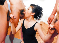 Japanese blow job by naughty...