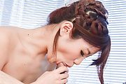 Maya Kawamura amazes with her sloppy Asian blowjob  Photo 8